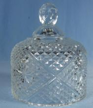 BUTTER DISH Cover - vintage child size Pressed Glass Toy