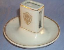 Porcelain Hotel DESHLER Matchholder - Advertising