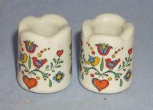 Pair of Minature German Porcelain Candlesticks