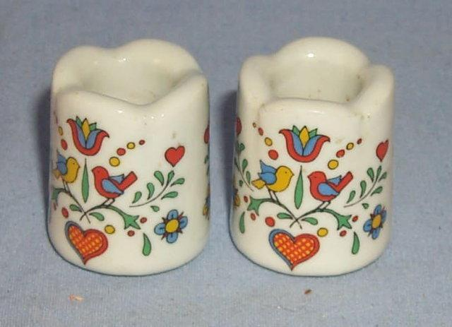 Pair of Minature German Porcelain Candlesticks