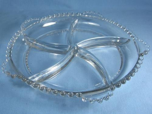 Imperial glass Candlewick 5-part Divided RELISH Server