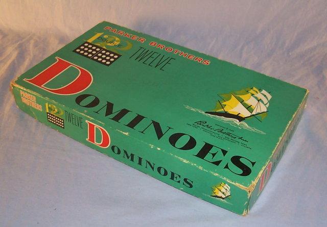 PARKER Double 12 Domino Set in Original Box - Toys