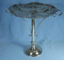 vintage Antique English Silver Pedestal Compote Server