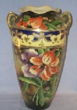 Large Oriental Pottery Vase - Porcelain