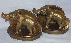 Frankart  Cast Metal ELEPHANT Bookends - Metalware