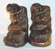 ARMOR BRONZE Cast Metal INTRUDER Bookends.