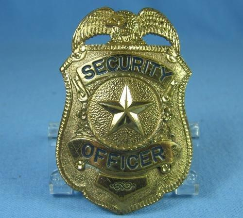 Law Enforcement  Badge Shield SECURITY OFFICER Badge  - Vintage metalware