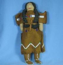 old Cheyene NETTE STARR  Indian Doll - Antique Ethnographic Folk Art Souvenir