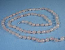 Vintage Rose QUARTZ Beads - antique estate jewelry