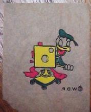 Donald Duck & Goofy Decals 1950 - Paper