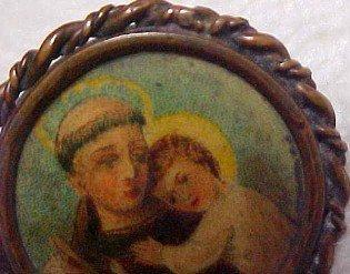 Chirst Child Religious Celluloid Pin - Jewelry