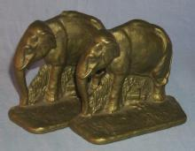 Cast Iron ELEPHANT Bookends - Metalware