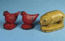 vintage Antique Rubber FARM ANIMAL Toy Group