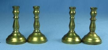 Miniature Doll House four BRASS CANDLESTICK Group - toy