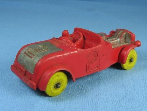 vintage AUBURN Rubber Roadster Race Car - Antique Toy