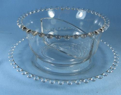 Imperial Candlewick Divided Compartment Bowl w/Underplate - Vintage Elegant Glass
