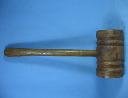 old Antique Wooden Keg MALLOT or Mall  - Beer Barrel Hammer Tool