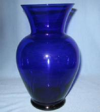 Cobalt Blue Glass Vase - Large Vintage