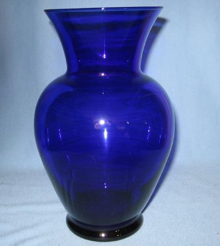 Cobalt Blue Glass Vase - Large Vintage