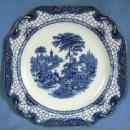 Pottery  Adams Blue White Transferware Historical Plate