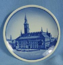 Porcelain  KOBENHAVNS RADUS Denmark Royal Copenhagen Miniature Plate