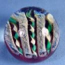 Signed LUNDBERG Butterfly Art Glass PAPERWEIGHT