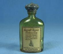 Mini  ROYALL SPYCE Miniature Perfume Bottle - Amber Glass England