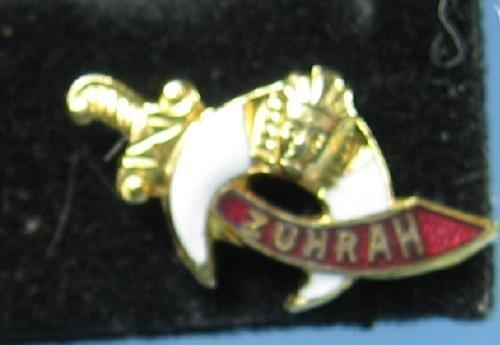 Antique jewelry MASONIC Shriner ZUHARH Lapel Pin -  Gold Vintage Estate Jewelry