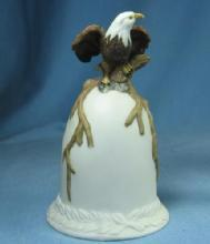 EAGLE  HAND BELL - Figural Porcelain Pottery