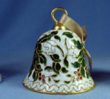 Christmas HOLLY Hand Bell - Vintage metalware