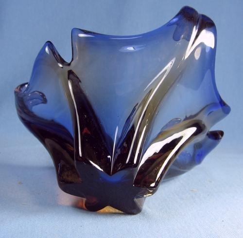 old vintage Italian Art Glass FREEFORM Bowl