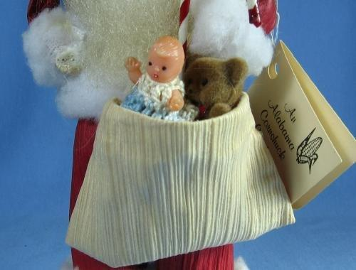 Cornshuck SANTA Doll - Folk Art Corn Shuck Creation