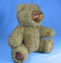 vintage Applause Teddy Bear JAMIE  - Robert Raike Wooden Face Toy