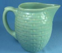 Weller Art Pottery PIERRE Basketweave Milk Pitcher