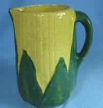 Yelloware  Yellow ware Pottery CORN Pitcher - Stoneware pottery