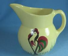 Watt Pottery ROOSTER Pitcher - Vintage Pottery