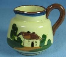 Torquay Motto Ware Creamer Pitcher English - Vintage Pottery