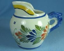 Henriot QUIMPER France Pitcher - Vintage Porcelain  Pottery