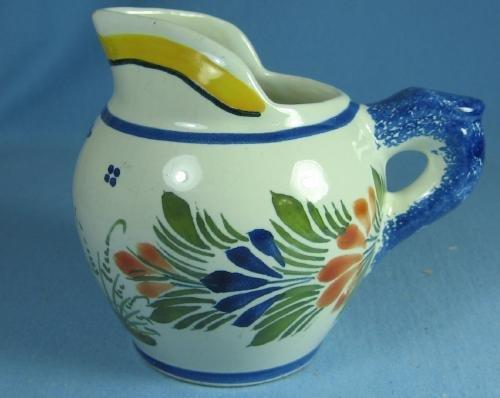 Henriot QUIMPER France Pitcher - Vintage Porcelain  Pottery