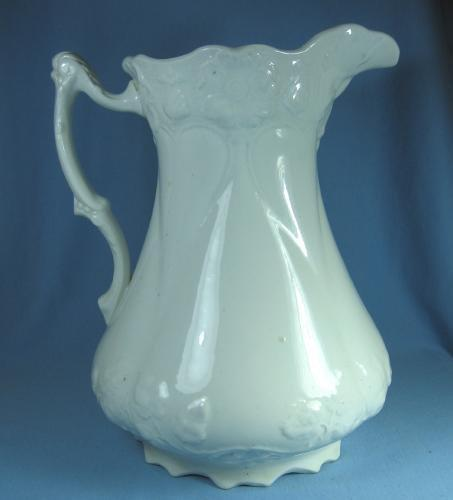 Ironstone Pitcher  - Huge Victorian Wash Basin Pitcher for the Vanity