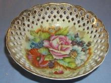 OCCUPIED JAPAN Open Lace Porcelain Bowl