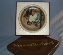 Norman Rockwell Huck Finn Series II LISTENING Porcelain Collector Plate