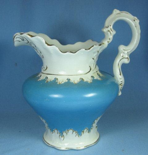Pottery  Water  Milk PITCHER - Mellor Etruria Porcelain 1890's
