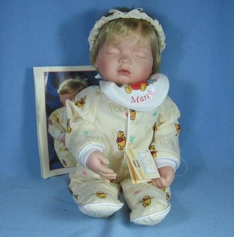 Winnie the Pooh BIRTHSTONE DREAMERS  Baby Girl MARCH Doll MIB