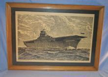 WORLD WAR II Aircraft Carrier Framed Print - Military