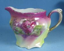 Antique German Lustre Creamer Pitcher - Luster Porcelain