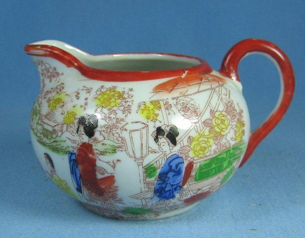 Antique Satsuma Creamer Pitcher -  Porcelain