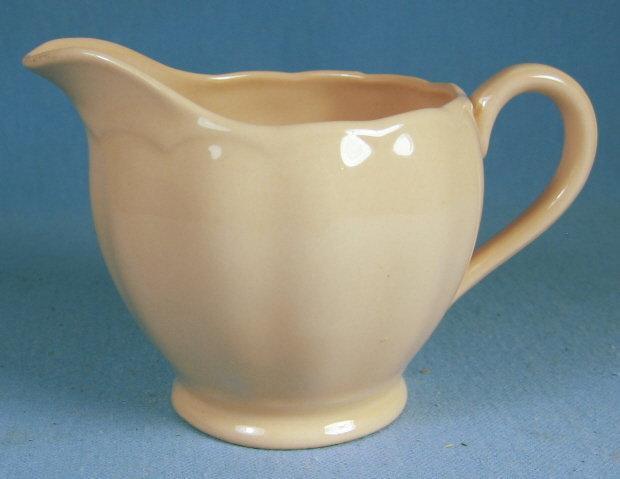 Antique PEACH PEDAL Porcelain Creamer - Grindley England