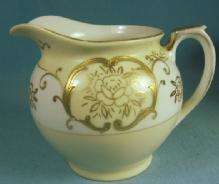 Antique Japan Porcelain HEAVY GOLD Decorated Creamer Pitcher