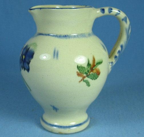 Vintage FLOW BLUE Pottery Pitcher